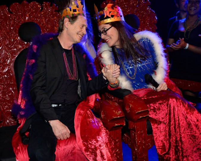 Actor Steve Buscemi (L) and choreographer/filmmaker Jo Andres attend the fifth annual Two Boots Mardi Gras ball at Le Poisson Rouge in New York City. (Ben Gabbe/Getty Images)