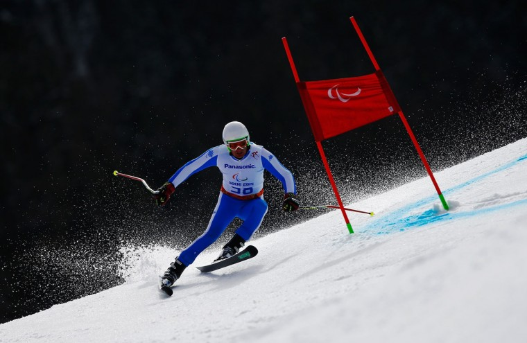Marco Zanotti of Italy competes in the Men's Giant Slalom Standing during day eight of the Sochi 2014 Paralympic Winter Games at Rosa Khutor Alpine Center on March 15, 2014 in Sochi, Russia. (Photo by Tom Pennington/Getty Images)