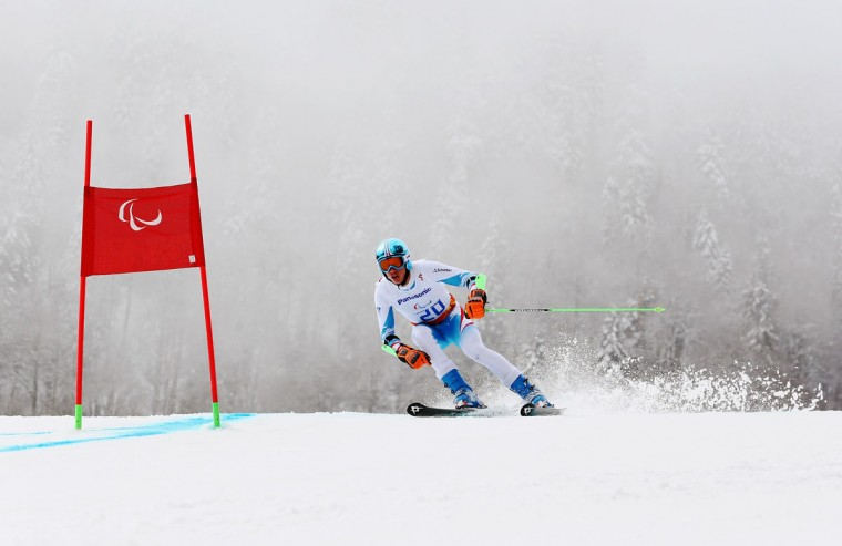 Markus Salcher of Austria competes in the Men's Giant Slalom Standing during day eight of the Sochi 2014 Paralympic Winter Games at Rosa Khutor Alpine Center on March 15, 2014 in Sochi, Russia. (Photo by Ian Walton/Getty Images)