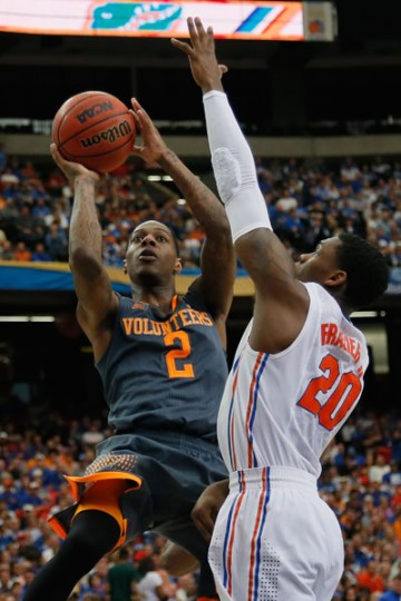 Antonio Barton, a senior point guard and Lake Clifton graduate, will lead 11th-seeded Tennessee against 11th-seeded Iowa on Wednesday in a play-in game in Dayton, Ohio. The winner will play sixth-seeded UMass in Raleigh, N.C., on Friday. (Kevin C. Cox/Getty Images)