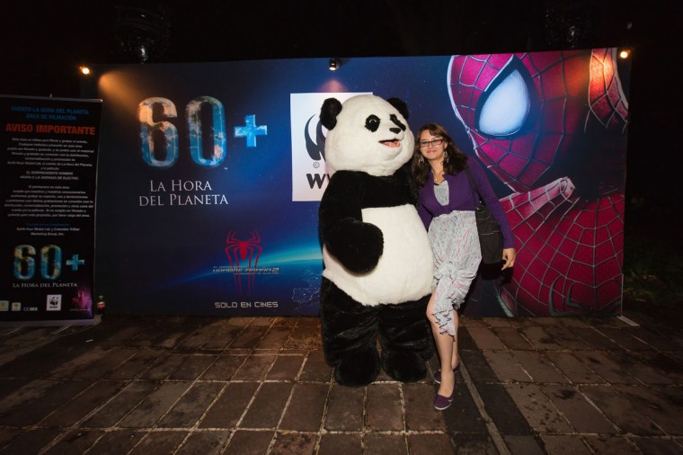 Earth Hour, the global movement organized By WWF (World Wide Fund For Nature) is celebrated on March 29, 2014 in Mexico City, Mexico. (Photo by Victor Chavez/Getty Images for Sony)