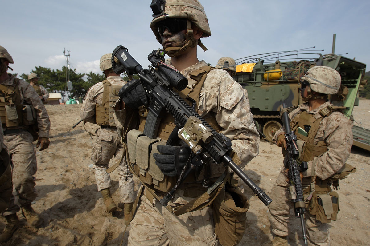 Marines from U.S., South Korea train for amphibious assaults