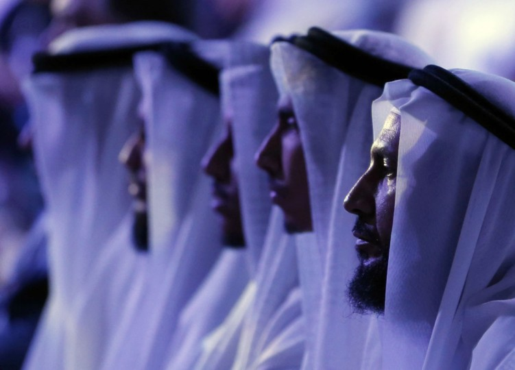 "People attend a two-day forum entitled ""Promoting Peace in Muslim Societies"" on March 9, 2014 in Abu Dhabi in the United Arab Emirates. (Karim Sahib/AFP/Getty Images)"