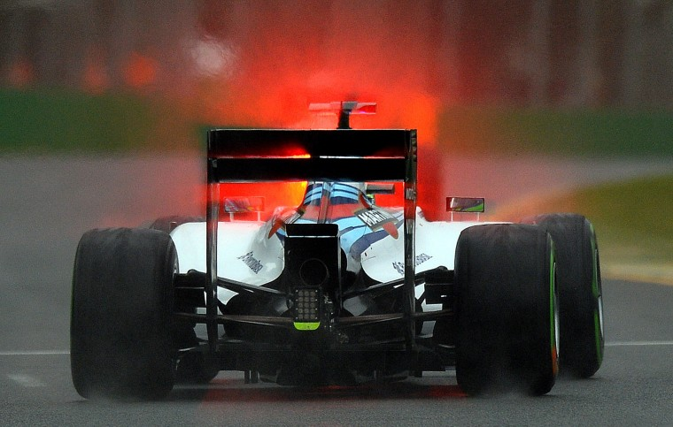 Williams driver Felipe Massa of Brazil powers his car during the qualifying session of the Formula One Australian Grand Prix in Melbourne on March 15, 2014. (Saeed Khan/AFP/Getty Images)