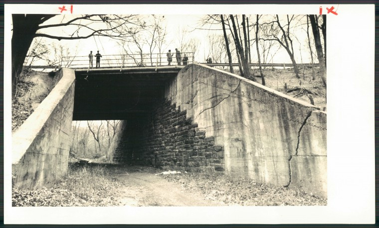 The Remington Avenue bridge. (Baltimore Sun/Dec., 8, 1981)