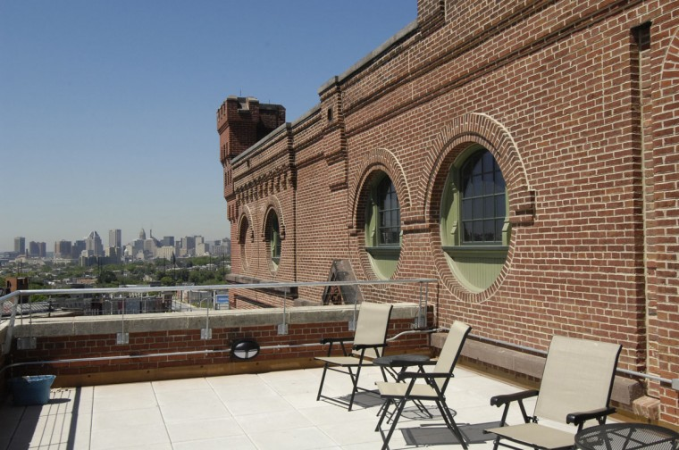 View from the fifth floor terrace that used to hold air conditioning machinery. (Jed Kirschbaum/Baltimore Sun)