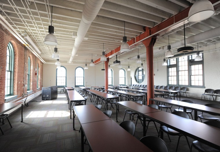 Conference space on the second floor of the building. The renovated American Brewery has been open for six years. (Lloyd Fox/Baltimore Sun)