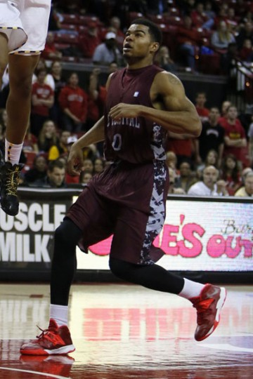 Sophomore guard Dante Holmes' 14th-seeded North Carolina Central squad takes on third-seeded Iowa State on Friday in San Antonio. Holmes, a St. Frances graduate, transferred to NCCU from Florida Gulf Coast. (Mitch Stringer/USA TODAY Sports)