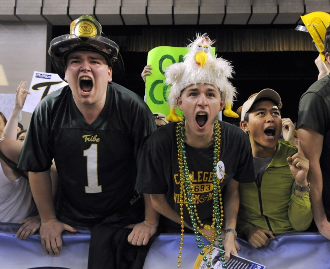 William & Mary fans cheer for their team during the championship game. (Lloyd Fox/Baltimore Sun)