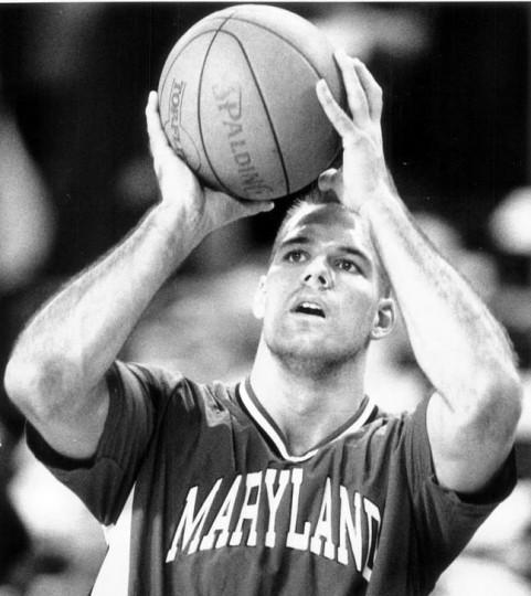 January 19, 1993 - Maryland's Kurtis Shultz of Randallstown warms up before the Oklahoma game. (David Tillman/Baltimore Sun file)