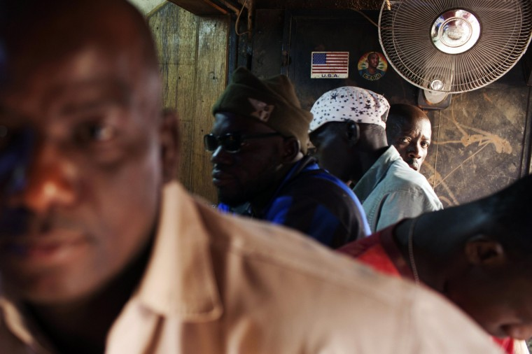 Men sit at the bar of a cafe in Bamako, Mali. (Joe Penney/Reuters