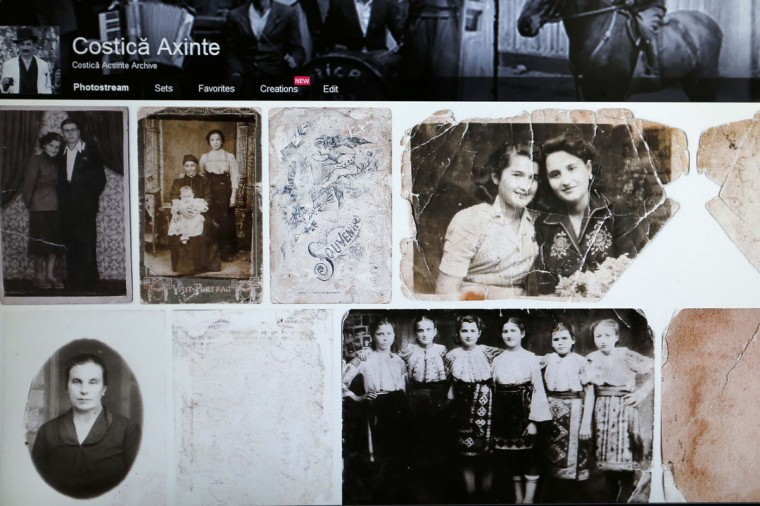 """Images scanned from the """"Costica Acsinte picture archive"""" are pictured on a monitor in Slobozia February 18, 2014. (REUTERS/Bogdan Cristel)"""