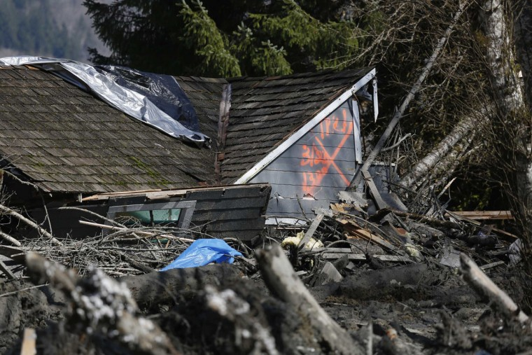 A landslide and structural debris blocks Highway 530 near Oso, Washington March 23, 2014. (Lindsey Wasson/Pool/Reuters)