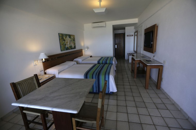 A view of a room in the Portobello Resort, where the Italy soccer team will be based during the 2014 World Cup, in Mangaratiba. (REUTERS/Ricardo Moraes)