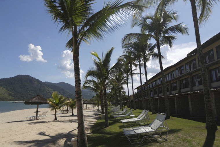 Rooms facing the beach at the Portobello Resort, where the Italy soccer team will be based during the 2014 World Cup, are pictured in Mangaratiba. (REUTERS/Ricardo Moraes)