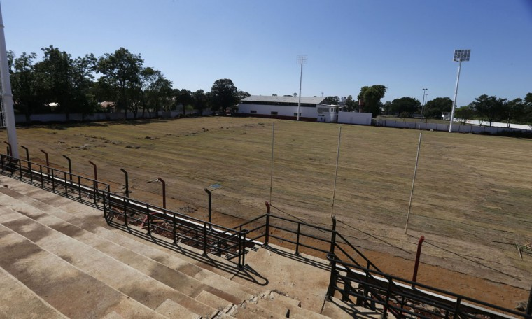A view of the grounds of the Flamengo Sport Club, as it is being refurbished to be used by South Korea's national soccer team as its training base during the 2014 World Cup. (REUTERS/Jorge Adorno)