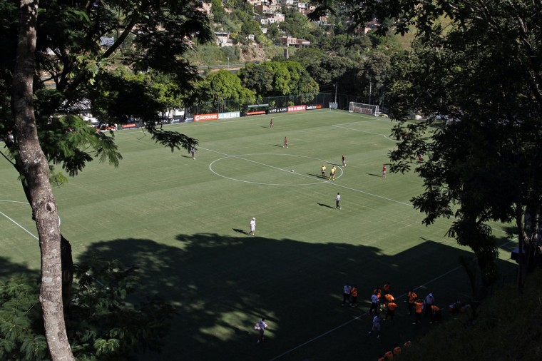 An overview of the Atletico Mineiro Training Center, where the Argentine national soccer team will be based during the 2014 World Cup, in the Vespasiano municipality of Belo Horizonte, Minas Gerais state. (REUTERS/Washington Alves)