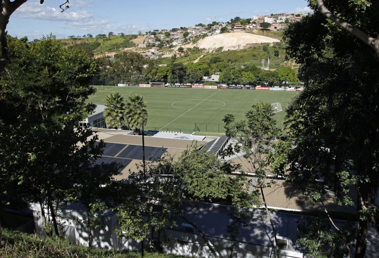 An overview of the Atletico Mineiro Training Center, where the Argentine national soccer team will be based during the 2014 World Cup. (REUTERS/Washington Alves)