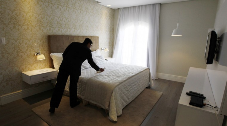 A view of the room at the San Raphael Country Hotel, where Russia's national soccer team will be based during the 2014 World Cup in Itu. (REUTERS/Paulo Whitaker)