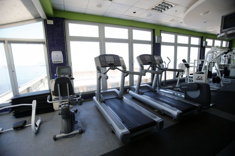 A view of the gym of the Caesar Park hotel, where the Netherlands soccer squad is staying for the FIFA 2014 World Cup, in Rio de Janeiro. (REUTERS/Sergio Moraes)