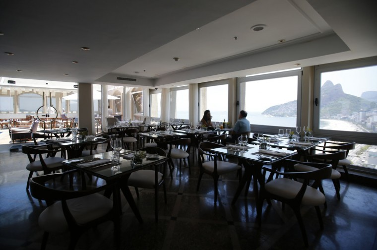A view of the restaurant at the Caesar Park hotel, where the Netherlands soccer squad is staying for the FIFA 2014 World Cup, in Rio de Janeiro. (REUTERS/Sergio Moraes Moraes)