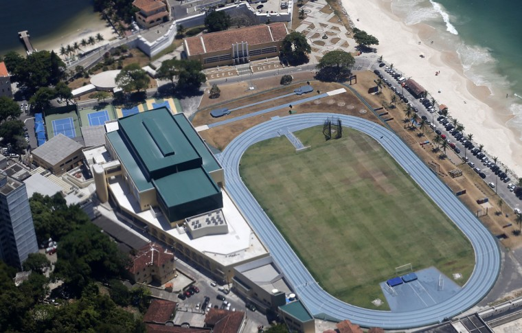 A view of the field of the Brazilian Army Physical Training Centre, where the England soccer team will be training at during the 2014 World Cup, in Rio de Janeiro. (REUTERS/Sergio Moraes)