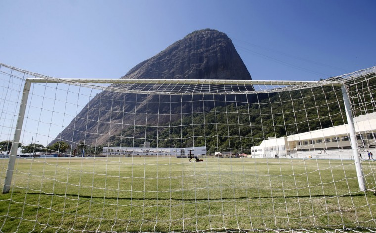 A view of the field at the Brazilian Army Physical Training Centre, where the England soccer team will be training at during the 2014 World Cup, in Rio de Janeiro. (REUTERS/Sergio Moraes)
