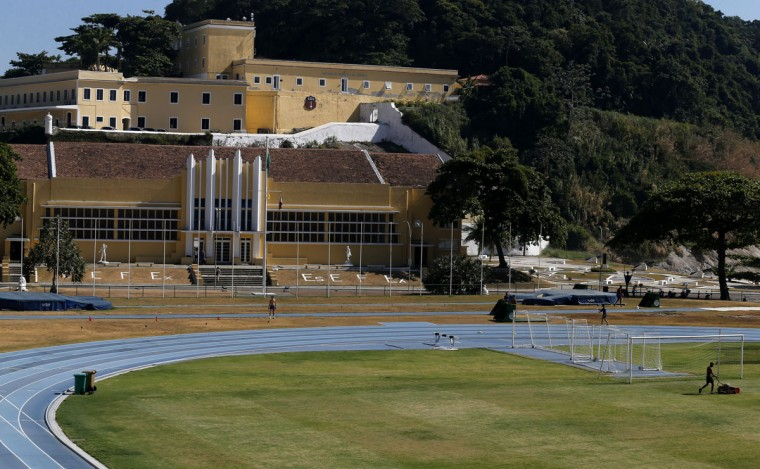 A view of the field at the Brazilian Army Physical Training Centre, where the England soccer team will be training at during the 2014 World Cup. (REUTERS/Sergio Moraes)