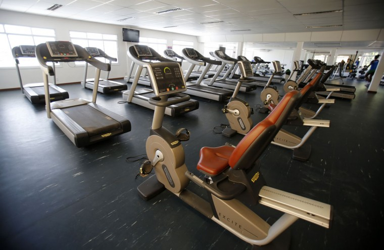 A view of the gym at the Brazilian Army Physical Training Centre, where the England soccer team will be training at during the 2014 World Cup, in Rio de Janeiro. (REUTERS/Sergio Moraes)
