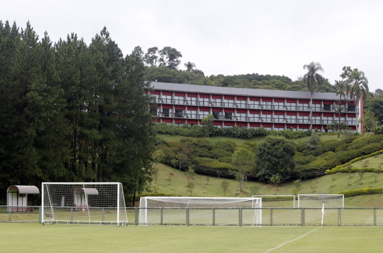 A general view shows the Sao Paulo Soccer club training center in Cotia. Colombia's national soccer team will be based at the center during the 2014 soccer World Cup tournament. (REUTERS/Paulo Whitaker)