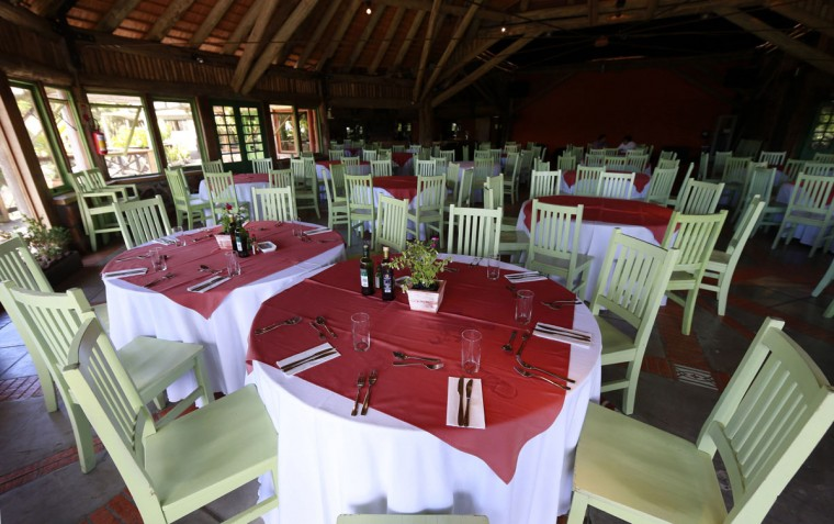 The restaurant at the Vila Ventura hotel, where the Ecuador soccer team will be staying during the 2014 World Cup, is pictured in Viamao, Rio Grande do Sul. (REUTERS/Edison Vara)