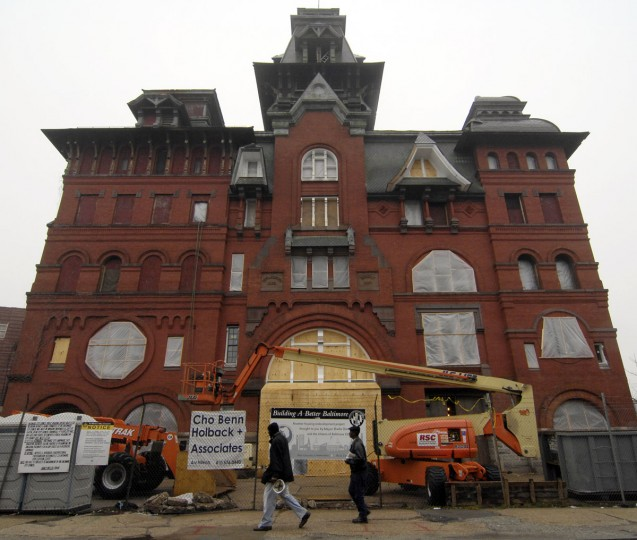 Developers overseeing the renovation of the American Brewery site in East Baltimore received a $700,000 grant from the city's housing department. Two companies, Gotham Development and Struever Bros. Eccles & Rouse, are investing more than $35 million to convert the five-story former brewery into office space for Humanim Inc., a nonprofit social services agency in Columbia. (Christopher T. Assaf/Baltimore Sun)
