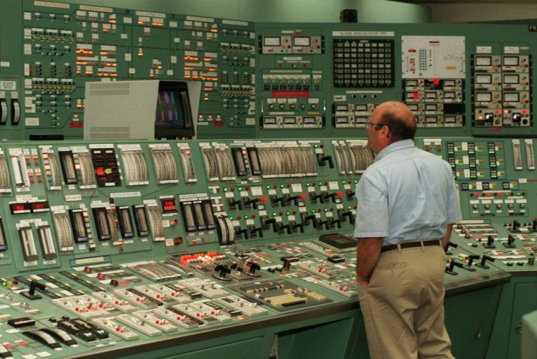 Three Mile Island (TMI) Nuclear Plants, the site of the country's worst nuclear accident in 1979, is up for sale by GPU Nuclear, the company that owns and operates the plant. Ken Gramilch, one of the control room operator, monitors instrument panels for the primary nuclear sites of TMI plant. (Kenneth K. Lam/Baltimore Sun File/July 14, 1998)