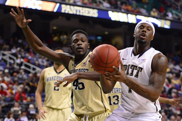 Jamel Artis' Pittsburgh Panthers, a No. 9 seed, face eighth-seeded Colorado on Thursday in Orlando. Artis, a Baltimore native who graduated high school from Vermont Academy, is a freshman forward for the Panthers. (Bob Donnan/USA TODAY Sports)