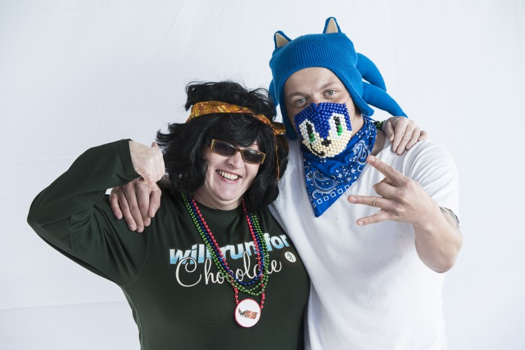 Laura Cain and Brandon Cain at the Bear Polar Plunge. (Matthew Paul D'Agostino/For The Baltimore Sun)