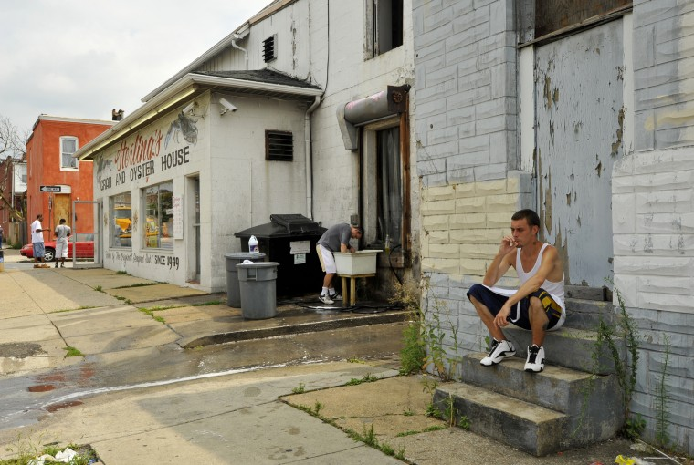 Various Remington neighborhood groups have differing views on the development plans for a Walmart and Lowe's in the neighborhood, and how they can influence the outcome. (Amy Davis/The Baltimore Sun/Aug. 4/10)