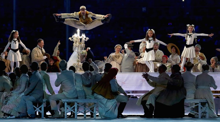 Dancers perform during the Opening Ceremony of the Sochi 2014 Paralympic Winter Games at Fisht Stadium on March 7, 2014 in Sochi, Russia. (Tom Pennington/Getty Images)