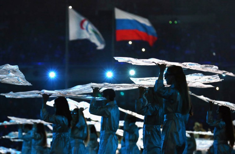 Dancers perform during the Opening Ceremony of the Sochi 2014 Paralympic Winter Games at Fisht Stadium on March 7, 2014 in Sochi, Russia. ( Tom Pennington/Getty Images)