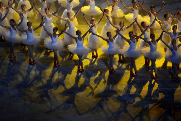 Dancers perform during the Opening Ceremony of XI Paralympic Olympic games at the Fisht Olympic Stadium close to city of Sochi on March 7, 2014. (Kirill Kudryavtsev/Getty Images)