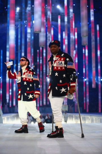 Team USA arrive during the Opening Ceremony of the Sochi 2014 Paralympic Winter Games at Fisht Olympic Stadium on March 7, 2014 in Sochi, Russia. (Tom Pennington/Getty Images)