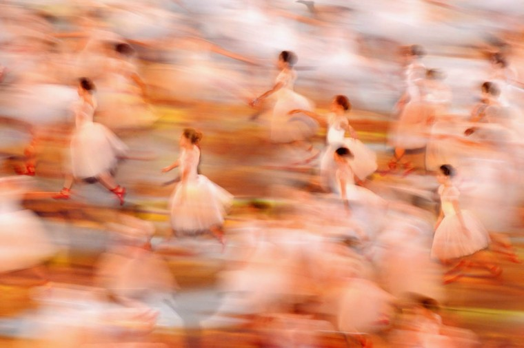 Ballet dancers perform during the Opening Ceremony of the Sochi 2014 Paralympic Winter Games at Fisht Olympic Stadium on March 7, 2014 in Sochi, Russia. (Dennis Grombkowski/Getty Images)