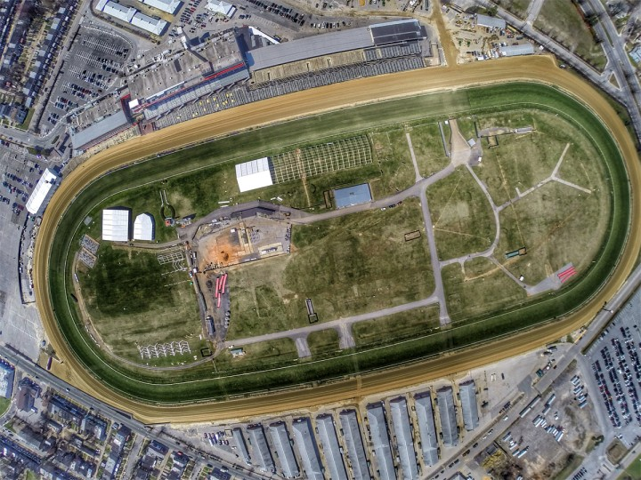 Over Pimlico Race Course in Baltimore. (Credit: Mid-Atlantic Aerials)
