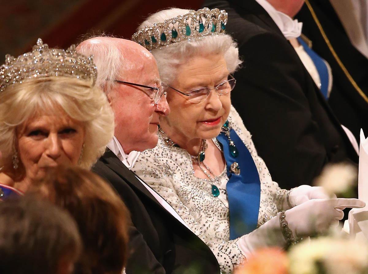 Irish president attends Britain's State Banquet
