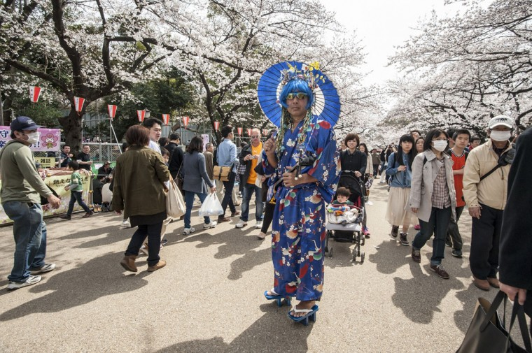 People visit Ueno Park to enjoy the cherry blossom on March 29, 2014 in Tokyo, Japan. This is the first weekend after Japan's Meteorological Agency announced this year's Tokyo's cherry blossom season has started. (Photo by Keith Tsuji/Getty Images)