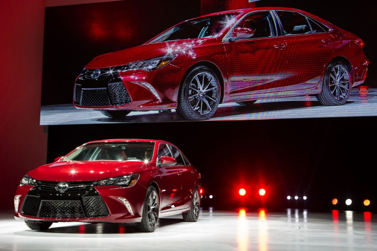 The new 2015 Camry is unveiled during a media preview of the 2014 New York International Auto Show April 16, 2014 in New York City. The show opens with a sneak preview to the public April 18 and runs through April 27. (Photo by Eric Thayer/Getty Images)