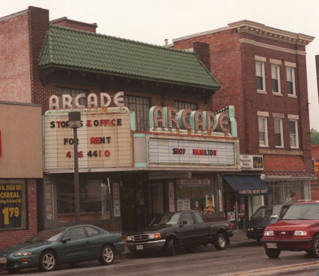 The Arcade Theater building, 5436 Harford Road, in the Hamilton area, which shuttered itself in the 1980s. (Barbara Haddock Taylor/Baltimore Sun file/May 8, 1998)