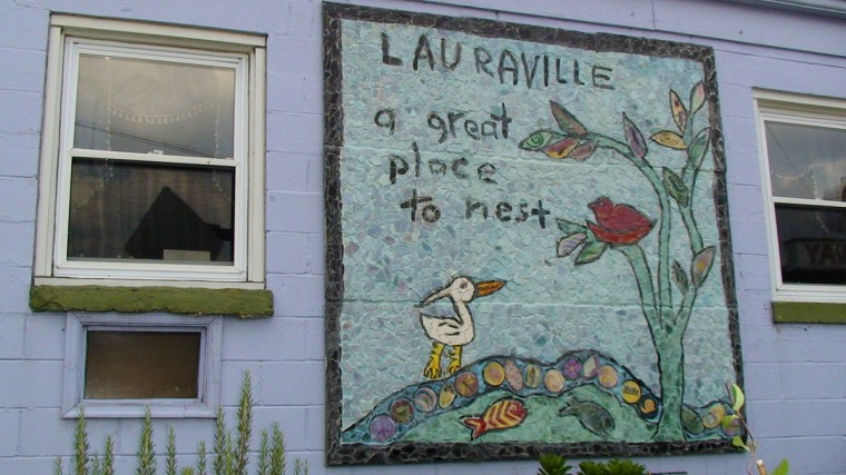 Public art decorates a building in Baltimoreís Lauraville neighborhood. (Jamie Smith Hopkins/Baltimore Sun Staff/2009)