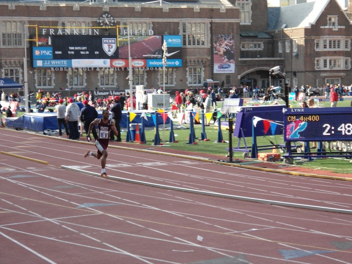 A scene from the 2014 Penn Relays, which are under way at Franklin Field in Philadelphia. The relays take place April 24-26.  (Patrick Maynard | Baltimore Sun)