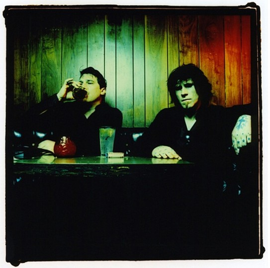 The Gutter Twins, Greg Dulli and Mark Lanegan, in 2005 in Echo Park, Calif. (Photo by Sam Holden)