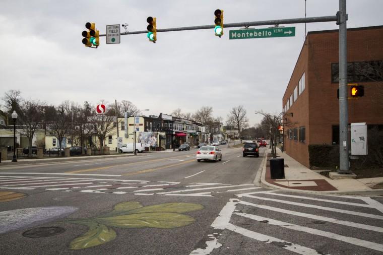 Looking south along Harford Road at Montebello Terrace. (Kalani Gordon/Baltimore Sun/2014)